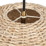 Seagrass Woven 1-Light Dome Pendant top view