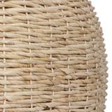 Seagrass Woven 1-Light Dome Pendant close up 1