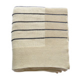 Caspian Sea Grey and Cream Striped Throw