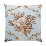 Shelldon 24 x 24 Linen Pillow - Blue Surf