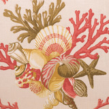 Shelldon 24 x 24 Linen Pillow - Coral close up