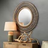 Bamboo Grove Braided Mirror room view