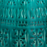 Flores Table Lamp in Turquoise Blue Ceramic close up