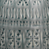 Flores Table Lamp in Slate Blue Ceramic close up pattern