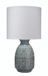Flores Table Lamp in Slate Blue Ceramic