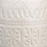 Flores Table Lamp in White Ceramic close up  image