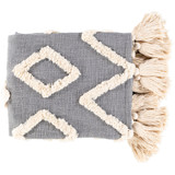 Soft Grey LaCasa Tufted Beach Throw