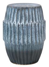 Algae Side Table in Blue Ombre Ceramic
