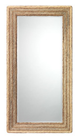 Casita Rectangle Mirror in Natural Braided Seagrass