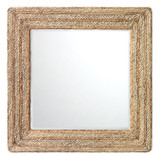 Casita Mirror in Natural Braided Seagrass