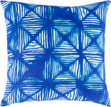 Azora Bright Blue Geo 20 x 20 Pillow