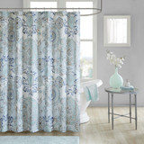 Isla Cotton Printed Shower Curtain