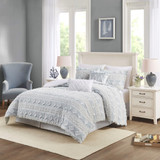 Belvedere 6-Piece Tufted Jacquard Queen Comforter Set view 1
