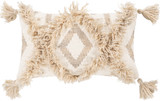Helena Tan and Ivory 10 x 18 Tassel Pillow