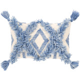 Helena Denim Blue 10 x 18 Tassel Pillow