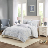 Belvedere 5-Piece Tufted Jacquard Queen Duvet Set room view