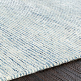 Pale Denim Strada Wool and Viscose Rug edge