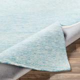 Aqua Strada Wool and Viscose Rug fold