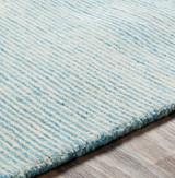 Aqua Strada Wool and Viscose Rug edge