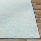 Aqua Strada Wool and Viscose Rug corner
