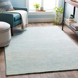 Aqua Strada Wool and Viscose Rug room view