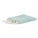 Aqua Waves Casual Knit Fringed Throw
