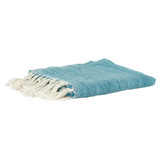 Turquoise Waves Casual Knit Throw
