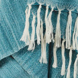 Turquoise Waves Casual Knit Throw close up
