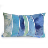 Ocean Waves Indoor-Outdoor 12 x 20 Pillow