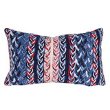 Nautical Braided Stripe Indoor-Outdoor 12 x 20 Pillow