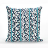 Ocean Braided Stripe Indoor-Outdoor 20x20 Pillow