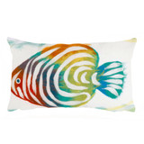 Rainbow Fish Pearl 12 x 20 Pillow