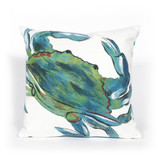Blue Crab Indoor-Outdoor Sea 20x20 Pillow