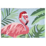 Festive Holiday Flamingo Accent Rug