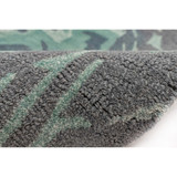 Storm Aqua Hand-Tufted Wool Rug close up