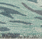 Storm Aqua Hand-Tufted Wool Rug edge