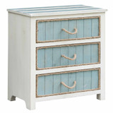 South Shore 3-Drawer Rope Accent Chest