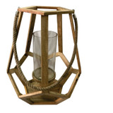 Myers Beach Large Candle Holder with Rope Handle