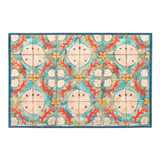Shell and Coral Tiled Floor Mat