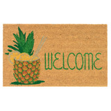 Welcome Pineapple Tropical Drink Outdoor 18 x 30 Door Mat