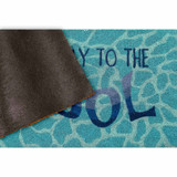 This Way to the Pool Natural Coir Mat - 24 x 36  backing