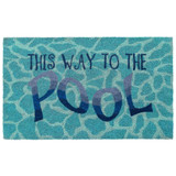 This Way to the Pool Natural Coir Mat - 24 x 36
