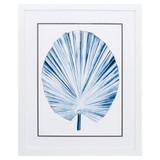 Deep Blue Indigo Tropical Leaf IV Image