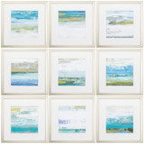 Beach Washed Framed Prints - Set of Nine