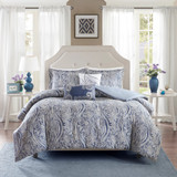Blue Stella 5-Piece King Size Duvet Bedding