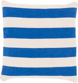 Bright Blue Stripes 18 x 18 Pillow