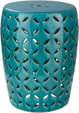 High Tide Turquoise Garden Stool