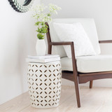 High Tide Ivory Garden Stool outdoor room view