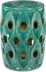Erika Sea Green Bungalow Garden Stool