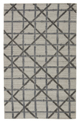 Mandeville Trellis Grey Area Rug by Barclay Butera
